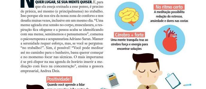 Matéria Sobre Mindfulness no Trabalho