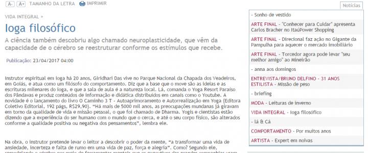 Matéria Sobre o Caminho 3T no Jornal Estado de Minas